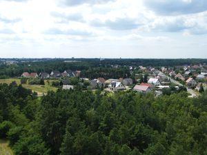 Blick über Merzdorf nach Cottbus