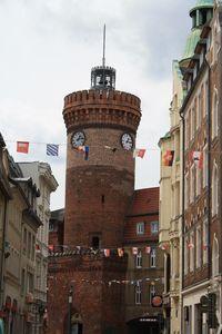 """Der """"Spremberger Turm"""" von der Burgstraße aus betrachtet"""